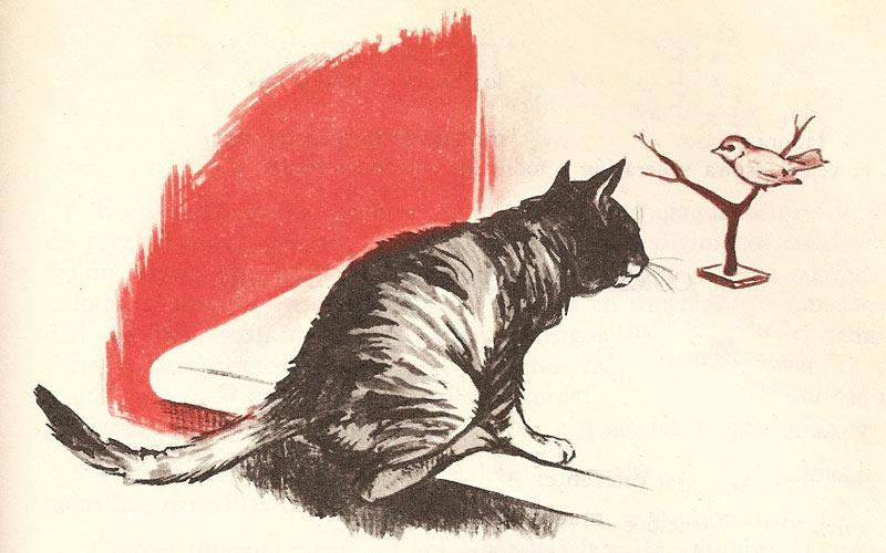 El Gato queriendo engañar al Pájaro